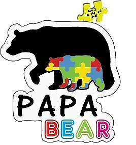 "Papa Bear Arrows Car Vinyl Sticker Decal 6/"" family kids proud dad cubs *D53*"