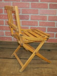 Old Wooden Folding Chairs.Details About Vintage Child S Wooden Folding Chair