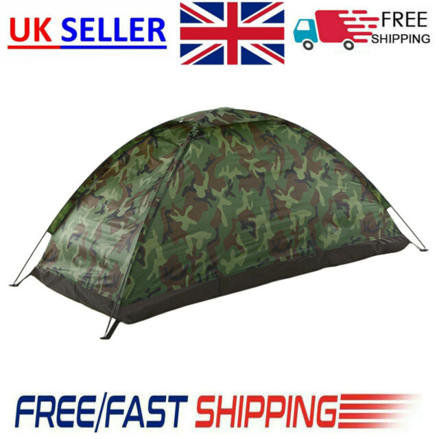 Outdoor Camping Tent Hunting Picnic 1person Camouflage Waterproof Folding Uk For Sale Online Ebay