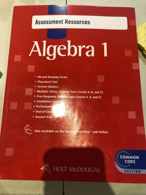Holt McDougal Algebra 1 Common Core Assessment Resources With Answers