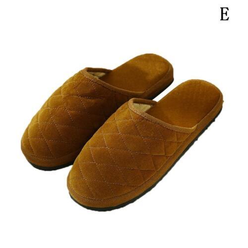 Damen Herren Indoor Beleg auf Ebeneschuhe Solid Color Winter Home Schuhe neu