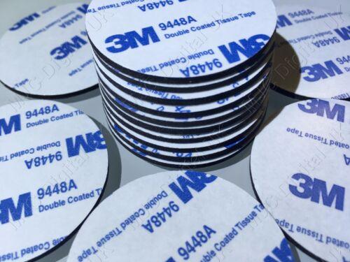 30pcs 3M 9448A Diameter 35mm Circle Black Double Coated Tape Adhesive PAD 2mm