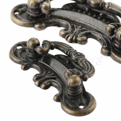 Antique Bronze Dresser Cabinet Knobs Drawer Cupboard Jewelry Box Pull Handles