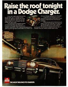 1977-Dodge-CHARGER-Brown-2-door-T-top-VTG-PRINT-AD