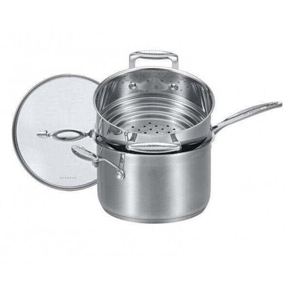 100% Genuine  SCANPAN Impact 20cm Saucepan with Multi Steamer 16 18 20cm Set