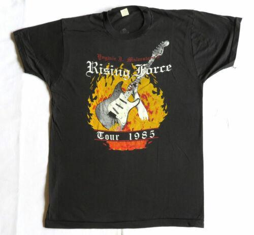 YNGWIE MALMSTEEN T Shirt CONCERT 1985 Rising Force TOUR DATES GILDAN USA SIZE