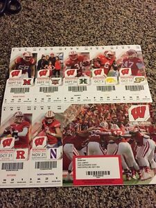2015 WISCONSIN BADGERS COLLEGE FOOTBALL SEASON TICKET STUB ...