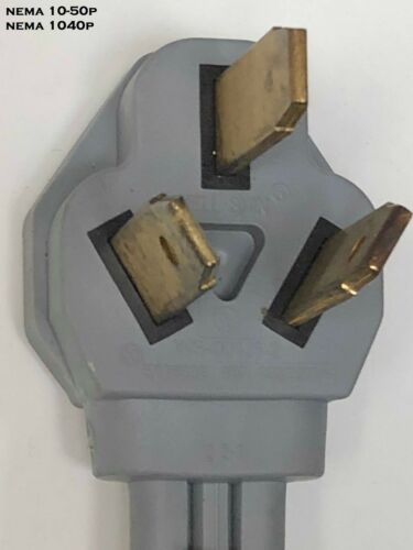 WELDER 3PRONG NEMA 6-30R RECEPTACLE to 3PIN 10-50P STOVE PLUG POWER CORD ADAPTER
