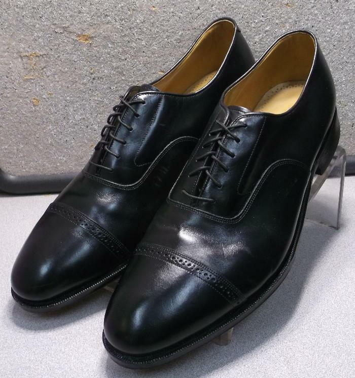 2408569 PF50 Men's Shoes Size 11.5 C/A Black Leather Lace Up Johnston & Murphy