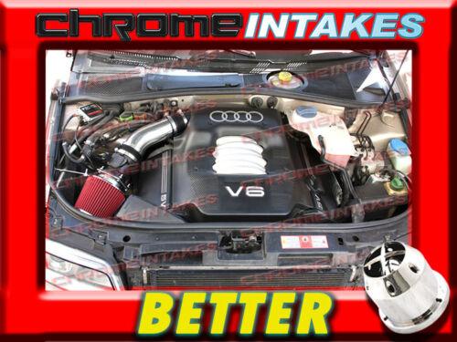CF BLACK RED 02 03 04 05//2002 2003-2005 AUDI A4 A6 A 4//6 3.0L V6 AIR INTAKE KIT