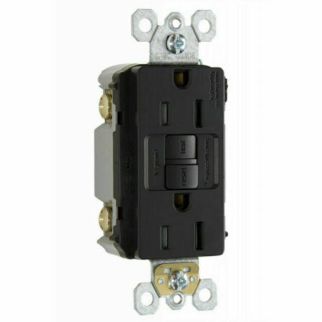 Pass  U0026 Seymour 1597trccd4 Gfci Receptacle  15a  Brown For