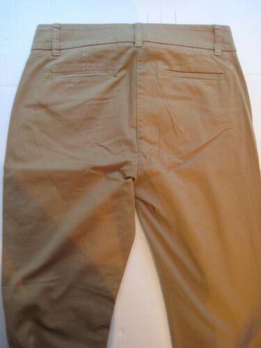 ~ chino 26 kaki ~ slim couleur Taille rasé Nwt 2 skinny entrejambe Pantalon raccourci en xvgqqEH4