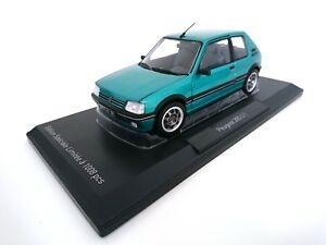 Peugeot-205-GTI-pinzamientos-1-9l-1990-1-18-norev-auto-DIECAST-Model-coche-car