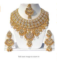 Indian-Cubic-Zirconia-Latest-Wedding-Designer-Kundan-Necklace-Jewelry-Set