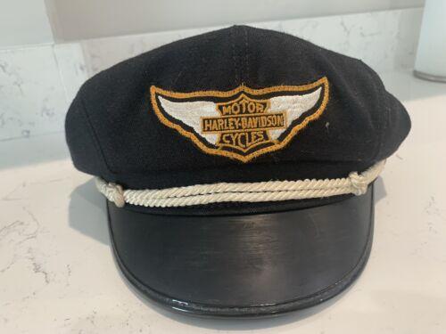 Vintage Harley Davison Captain Hat Road Small Made