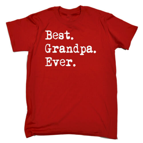 Best Grandpa Ever MENS T-SHIRT tee birthday dad grandad grandfather funny gift