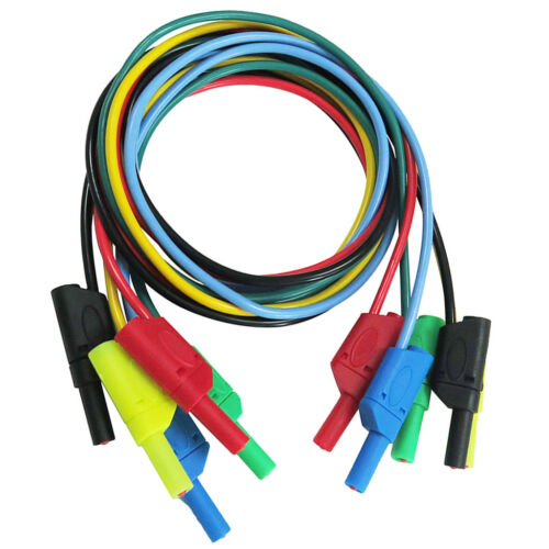 5pcs 4mm Banana to Banana Plug Silicone 1M Test Cable for Multimeter