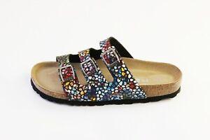 Rohde Softino Multicolour Pantoletten | schwarz/bunt | Größe 37 39 40 41