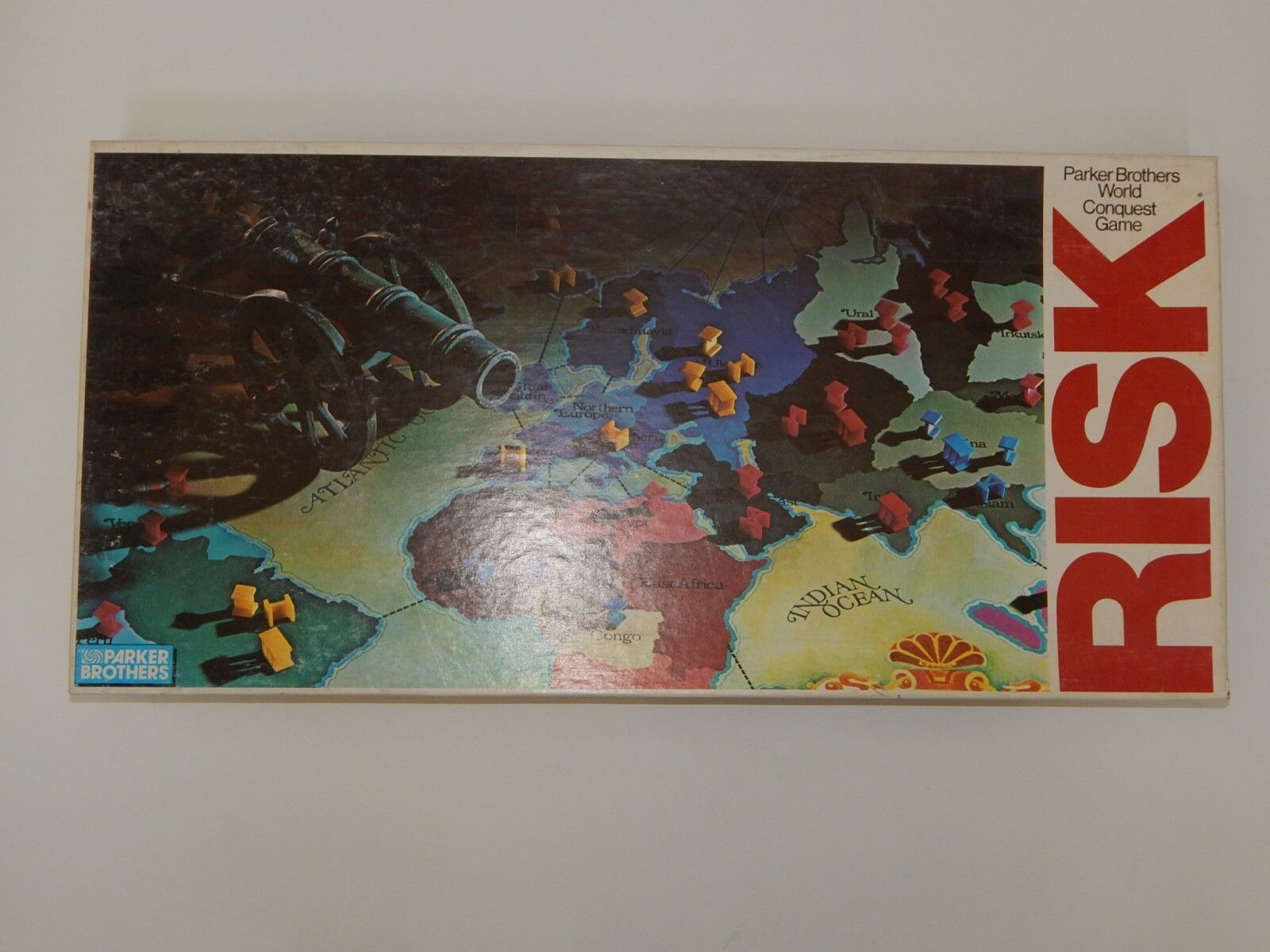 VINTAGE 1980 RISK WORLD GAME CONQUEST BOARD GAME WORLD EXCELLENT SHAPE - COMPLETE R17947 757475