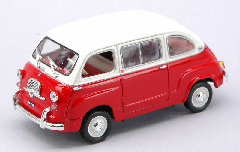 Fiat 600 Multipla rouge   blanc 1 43 Model 770052 NOREV