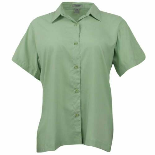 Womens River/'s End Camp Shirt Short Sleeve  Casual   Tops Green