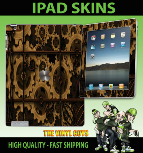 Apple iPad 2 3 3g 4g et wi-fi Vinyle Autocollant steampunk rouages peau victorienne gears