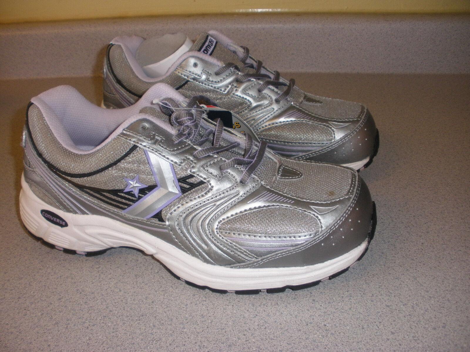 CONVERSE C448 Women's Comp Toe Work shoes shoes 9 M SILVER PURPLE