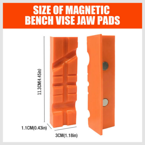 """4.5/""""//6/"""" Vise Soft Jaws//Vice Jaw Magnetic Reversible Pads Universal 2 Sets in 1"""