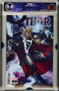 Thor-7-Sharp-1-25-Variant-EGS-9-8-not-CGC-Marvel-Comic-CATES-BLACK-WINTER