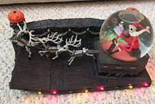RARE Nightmare Before Christmas Santa Jack Skellington Sleigh Snow Globe Disney