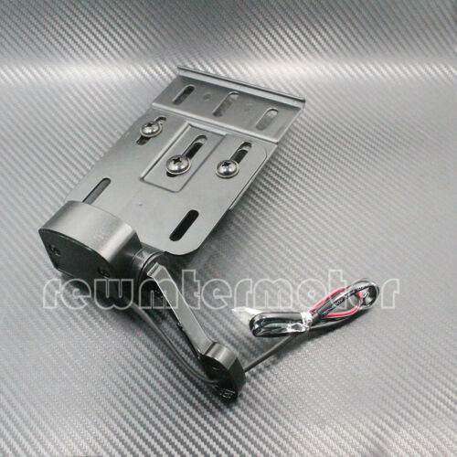 Folding LED Light Side Mount License Plate Bracket For Harley Sportster XL 04-up