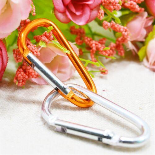 5Pcs Aluminum D-Ring Carabine Spring Clip Hook Keychain Climbing Bottle Outdoor