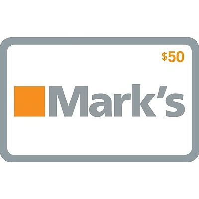 Mark's Gift Card- $50 Mail Delivery