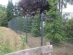 10m doppelstegmatten 1830mm anthrazit stahlmattenzaun, Garten seite