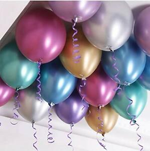 CHROME-BALLOONS-METALLIC-LATEX-PEARL12-034-Helium-Air-shiney-Baloon-Birthday-Party