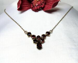 Granat-Kette-333-Gold-Collier-Kette-Halskette-cv-616
