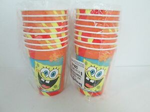 SPONGEBOB-BUDDIES-HOT-COLD-CUPS-9oz-LOT-OF-2-PACKAGES-PARTY-SUPPLIES
