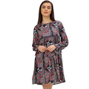 744029db59 La foto se está cargando Vestido-de-verano-mujeres-Multi-Floral-Print-Rayon-