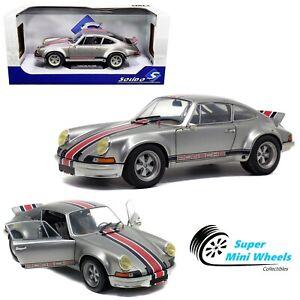 Solido 1:18 a 1973 Porsche 911 RSR (Plata) backdating proscrito-Modelo Diecast