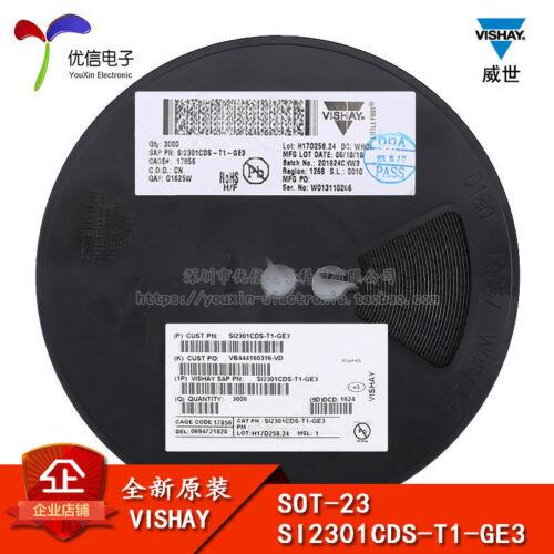 50PCS X VISHAY SOT-23 SI2301CDS-T1-GE3 P 3.1A20V MOS FET