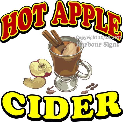 Drink Food Concession Vinyl Sticker Choose Your Size Hot Apple Cider DECAL