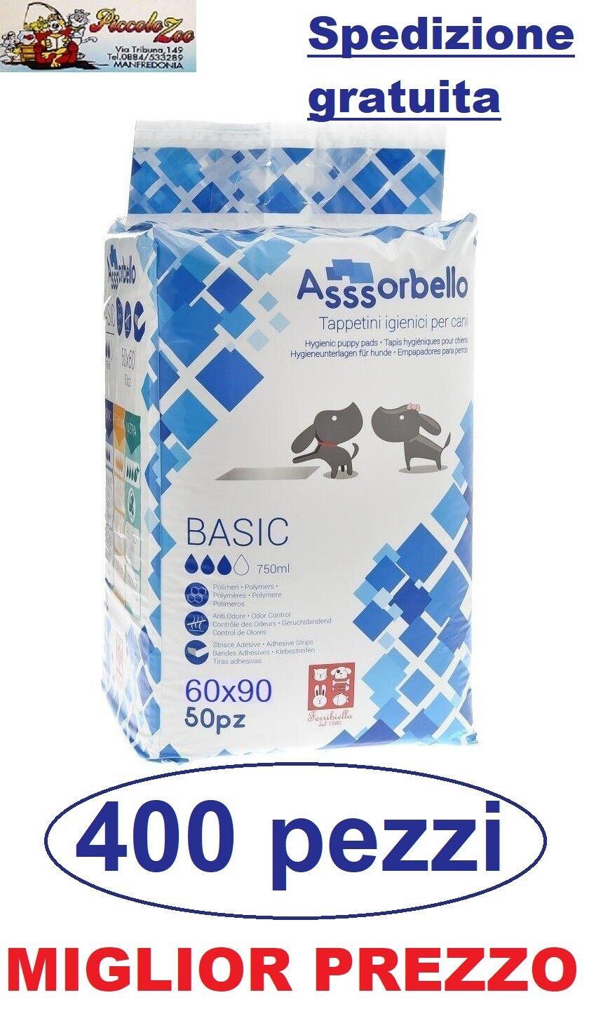 Assorbello Basic 60x90 traverse tappetini igienici assorbenti per cani 400 pezzi