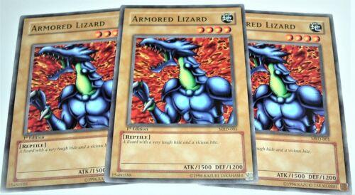 Yugioh Armored Lizard MRD-005 NM//MINT 3X Common 1st Edition