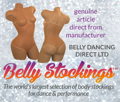 ALL SIZES BELLY DANCE BODY STOCKING DANCE WEAR CARNIVALS TAN UNDER BUST THONG
