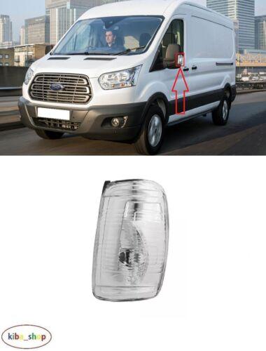 Para Ford Transit 2014-2017 Nuevo Indicador De Espejo Puerta Blanco Izquierda N//S Pasajero
