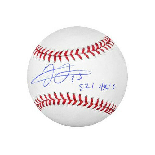 Frank Thomas signed MLB Baseball w/ 521 HR's -MAB HOLOGRAM (White Sox/Blue Jays)