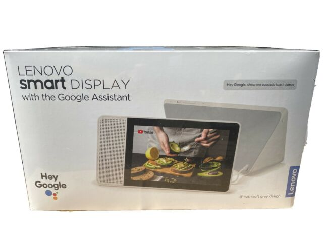 "Lenovo 8"" Smart Display W/Google Assistant Soft Gray Design Brand New Ships Fast"