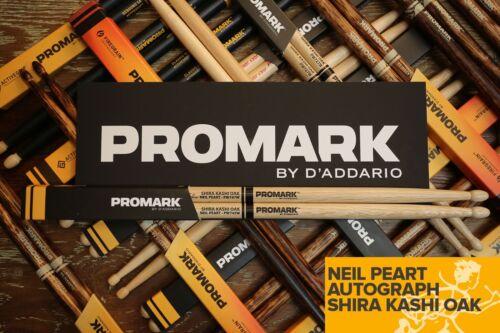 Promark Shira Kashi Oak 747 Neil Peart Wood Tip Drum Sticks Brick of 6
