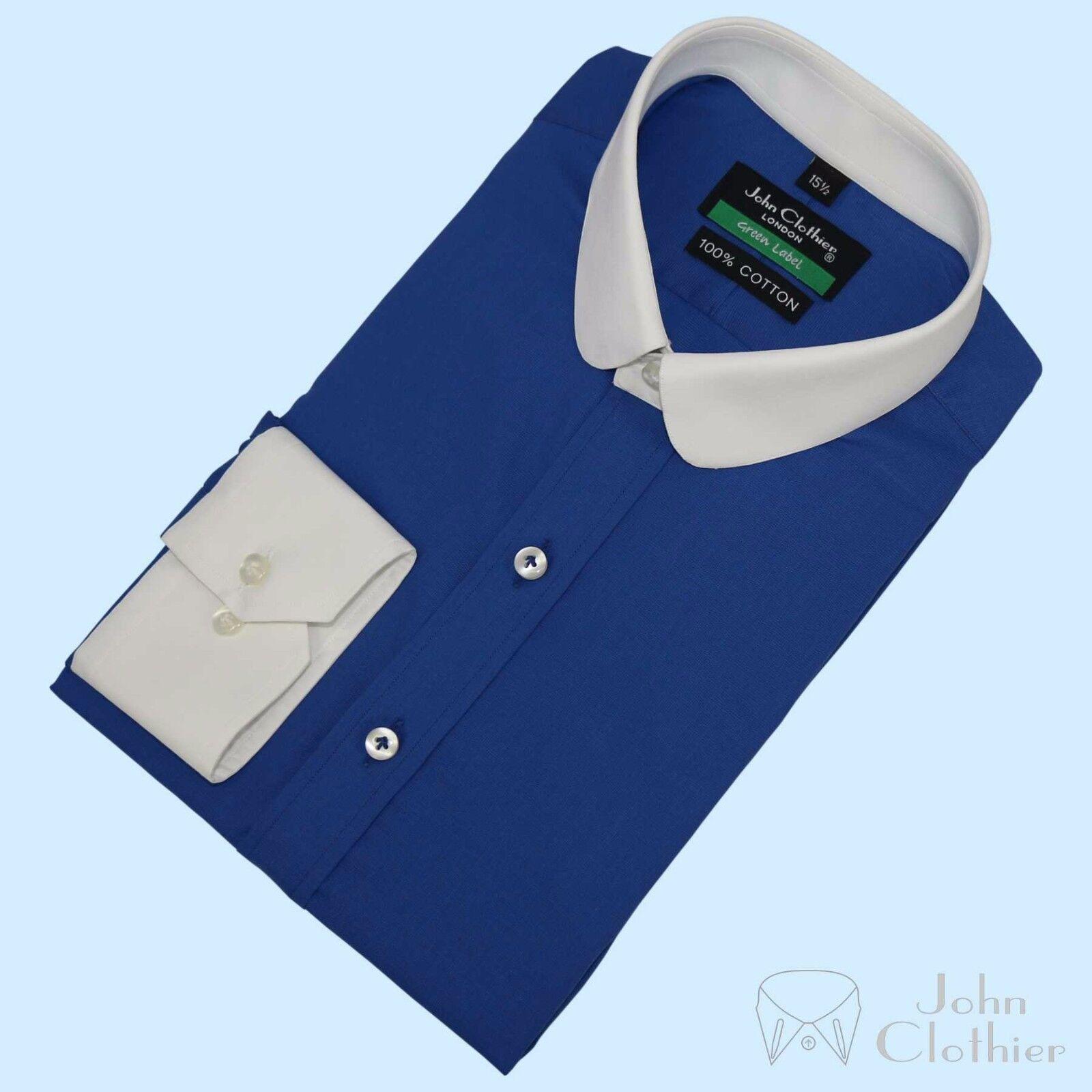 Hommes Autres Hauts Coton Rond Bleu Pic Oxford Banquier Club à Pic Bleu Blinder Pour 8d4fb0