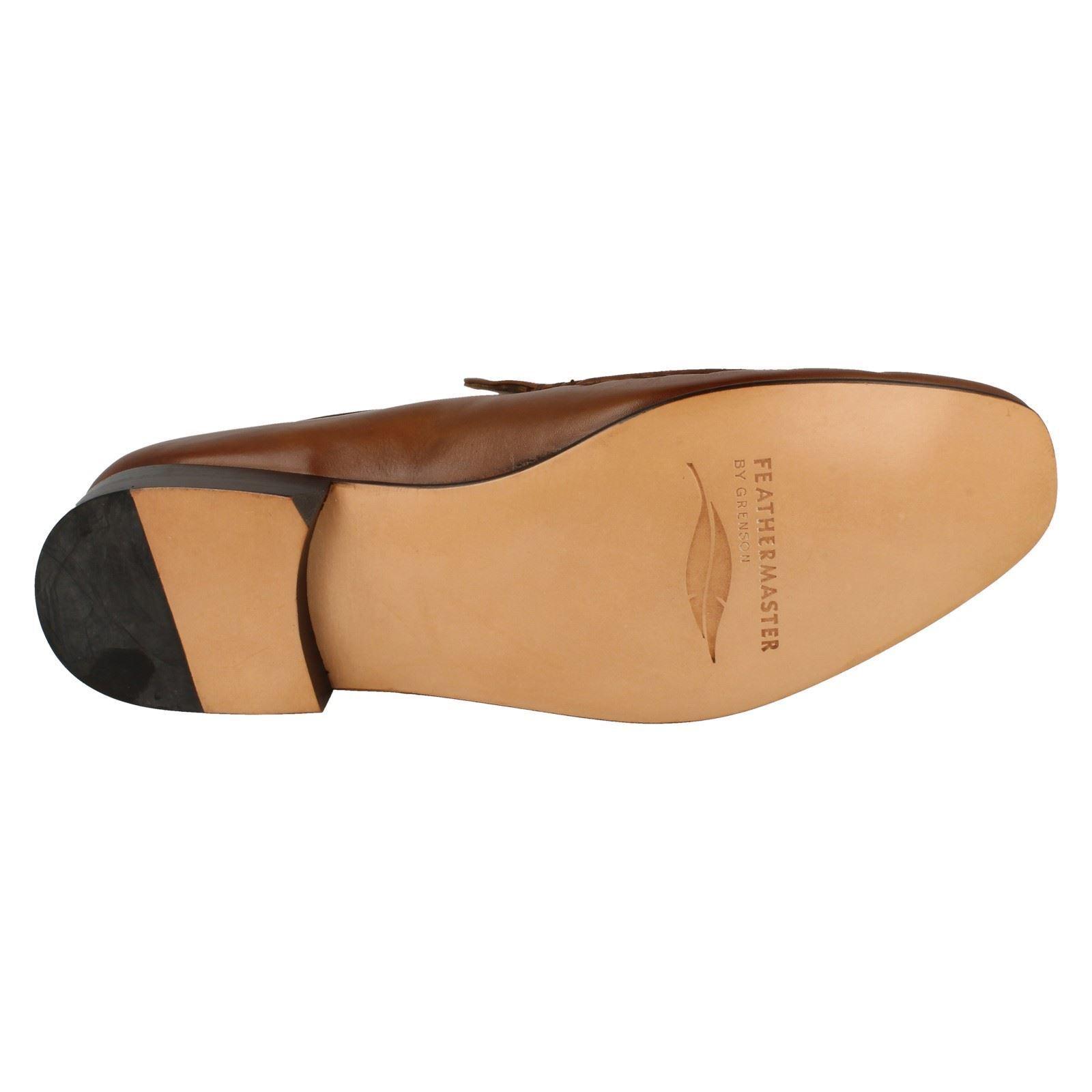 Mens Nevada Braun Leder slip on shoe by Grenson Feathermaster